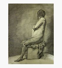 Seated Figure Photographic Print
