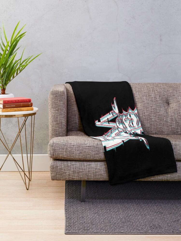 Alternate view of Get Schwifty Throw Blanket