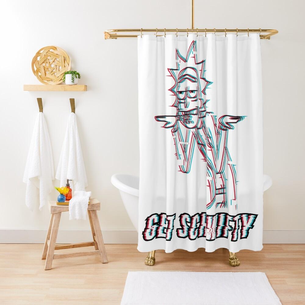 Get Schwifty Shower Curtain