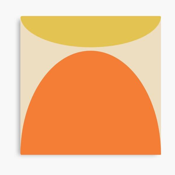 Imprimé moderne jaune et orange du milieu du siècle Impression sur toile