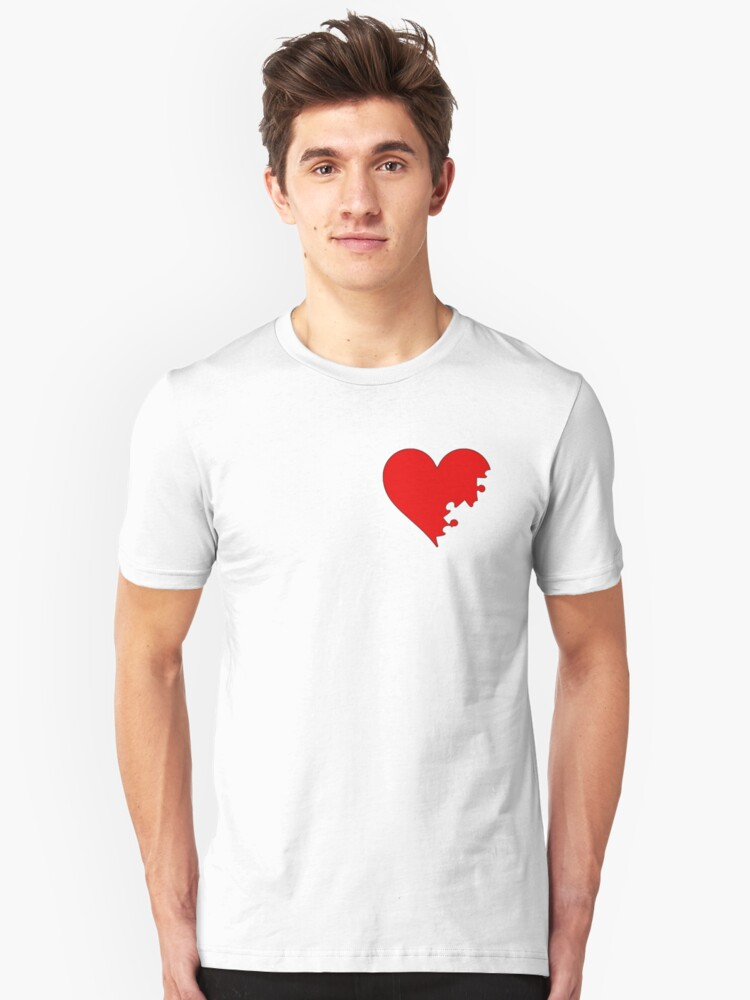 Puzzled Heart  Unisex T-Shirt Front