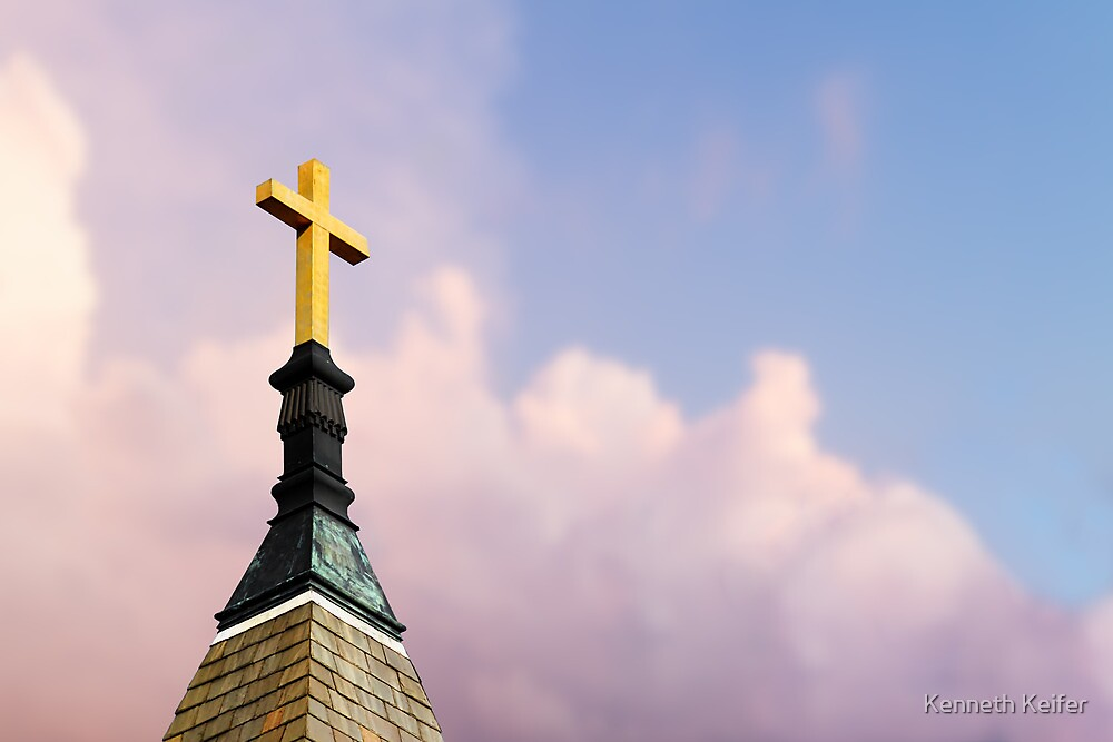 Cross on Steeple by Kenneth Keifer