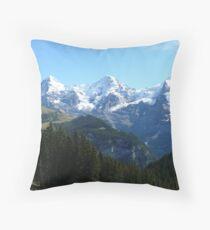 A trio of Swiss mountains Throw Pillow