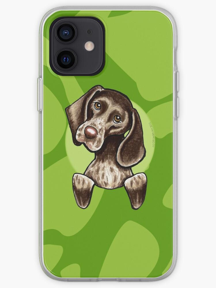 Pointeur allemand à poil court vert camouflage   Coque iPhone