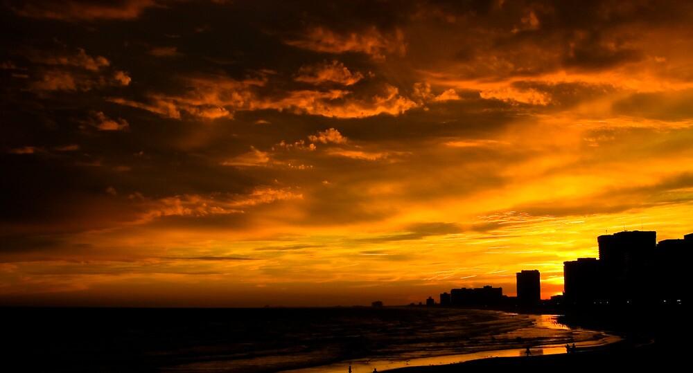 Atlantic City Sunset by David Hilliard Smith