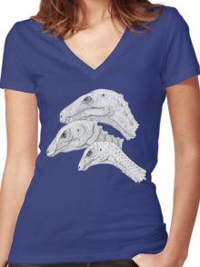 Morrison Dinosaurs 1 Women's Fitted V-Neck T-Shirt