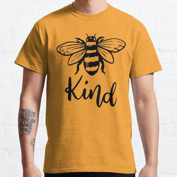 Bee Kind T-Shirt, Bee Happy Shirt, Mustard Color, Bee Shirt, Fall Shirt, Motivational Shirt, Inspirational Shirt, Adventure Shirt, Spring Shirt, Kindness Shirt, Camping Shirt, Classic T-Shirt