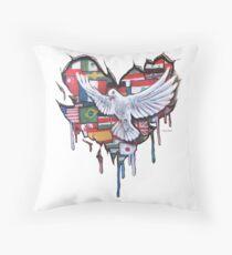 Peace by Jody Steel Throw Pillow