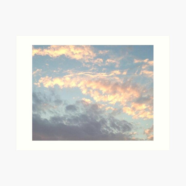 sunrise sunset aesthetic clouds art print by freshfroot redbubble redbubble