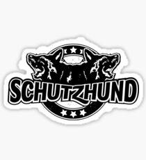 Baseball style Schutzhund for black or coloured background Sticker