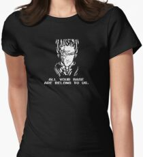 All Your Base - Black T Womens Fitted T-Shirt