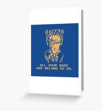 All Your Base - Blue T Greeting Card