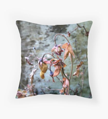Withered Beauties Throw Pillow