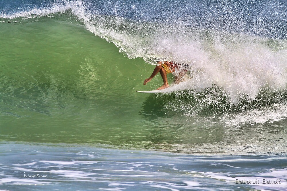 In The Tube At Ponce Inlet by Deborah  Benoit