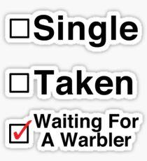 Waiting for a Warbler Sticker