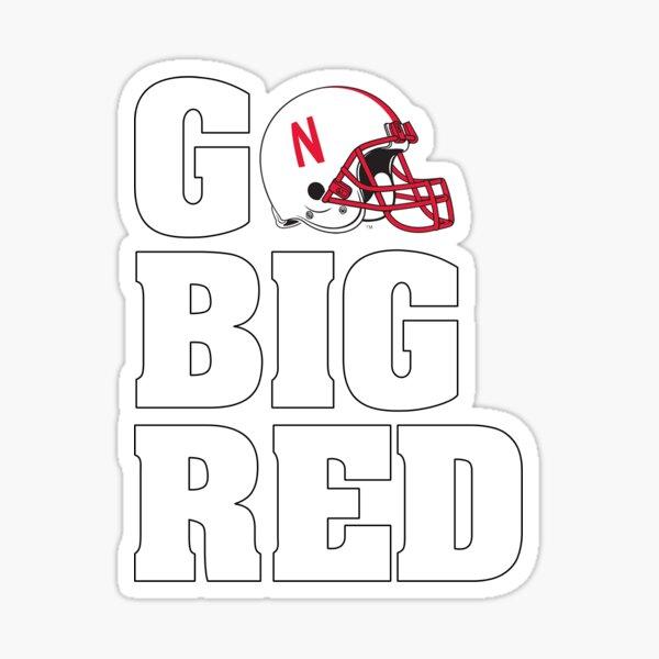 Go Big Red Sticker