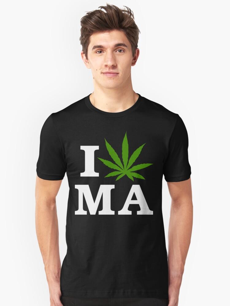 I Cannabis Massachusetts by MarijuanaTshirt