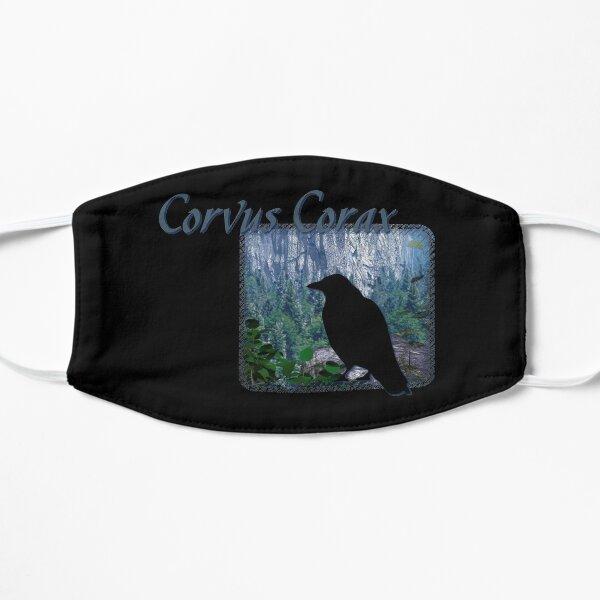 Corvus Corax Raven Silhouette Goth Bird Art Mask