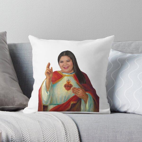 Raini Rodriguez Prayer Candle Throw Pillow