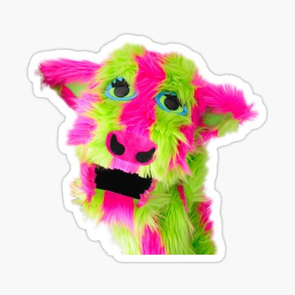 Wump Mucket Puppets Sarsaparilla the Cow merchandise Sticker