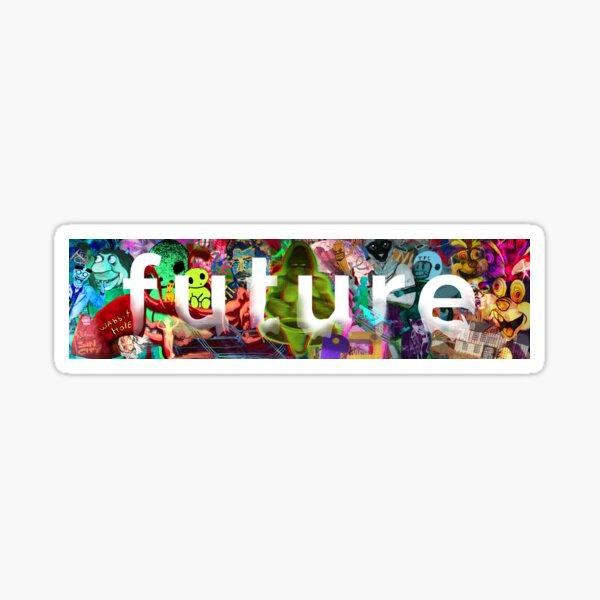 Future Montage Sticker Glossy Sticker
