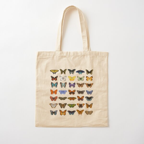 Butterflies of North America Cotton Tote Bag