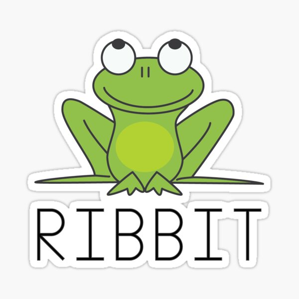 RIBBIT Sticker