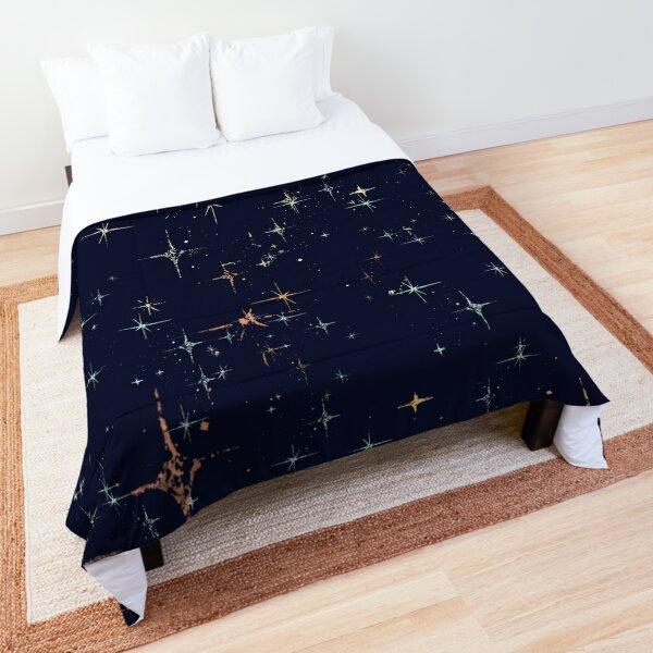 Deep Blue Starscape Stylized Comforter