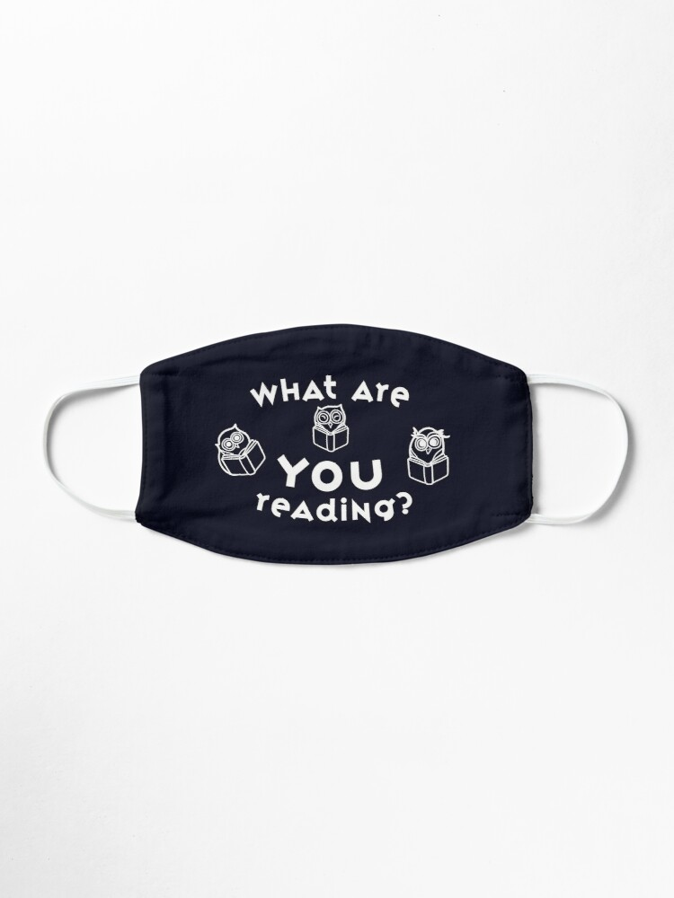 Alternate view of Owls ask What Are You Reading? Fun Prompt Mask