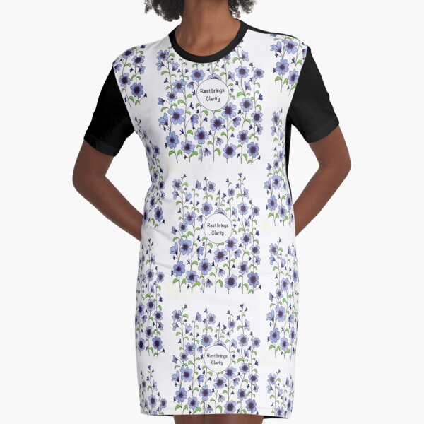 Rest Brings Clarity Graphic T-Shirt Dress