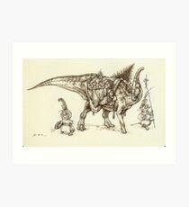 Holiday Hadrosaur 2011 Art Print
