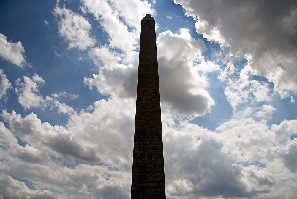 Silhouette Of The Washington Monument by Cora Wandel