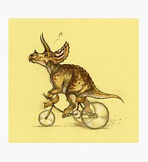 Tricycling Triceratops. Photographic Print