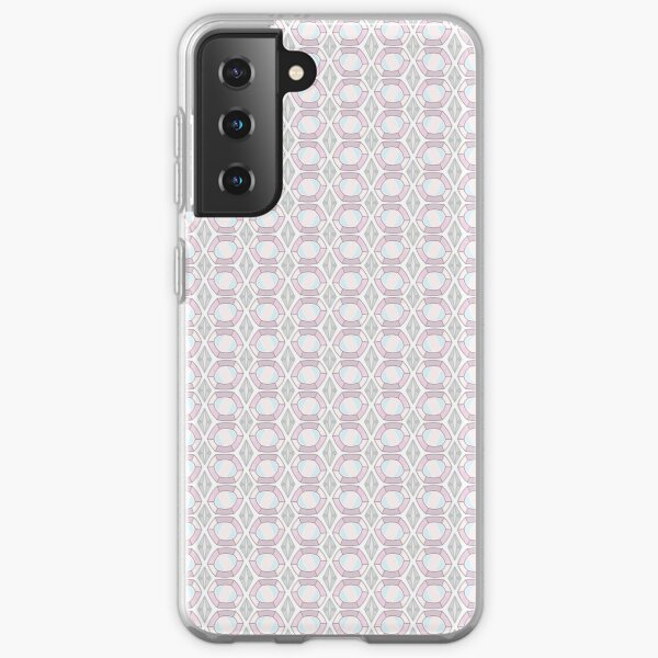 Opal Gemstone with Silver Accents Pattern Samsung Galaxy Soft Case