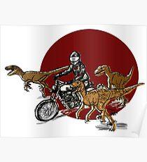 Typno and velociraptor Poster