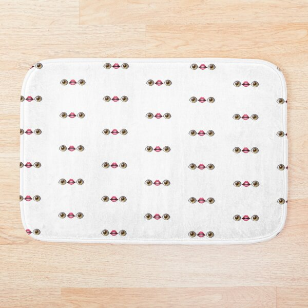 oh to see without my eyes Bath Mat