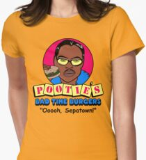Pootie's Bad Time Burgers Women's Fitted T-Shirt