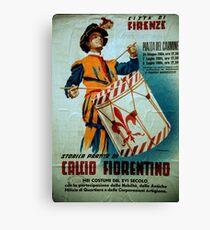 Calcio Fiorentino Parade Poster Florence Italy 19840708 0025 Canvas Print