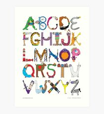 Children's Alphabet Art Print