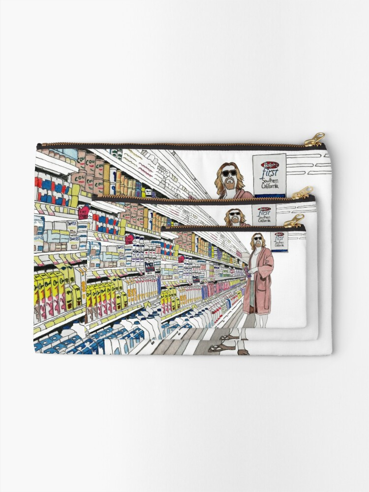 Alternate view of Jeffrey Lebowski and Milk. AKA, the Dude. Zipper Pouch