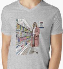 Jeffrey Lebowski and Milk. AKA, the Dude. Men's V-Neck T-Shirt