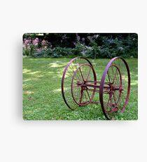 Antique Farm Wheels Canvas Print