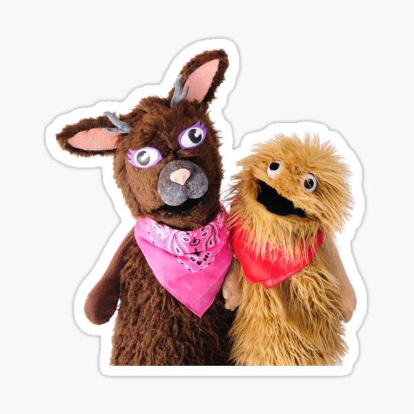 Wump Mucket Puppets Jacqui & Coleman merchandise Sticker