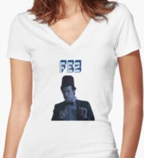 Doctor Who Fez 1 Women's Fitted V-Neck T-Shirt