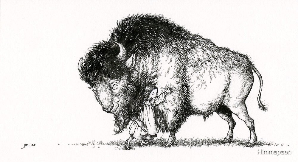 The Hugs Bison by Himmapaan