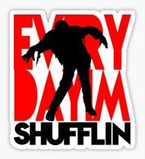 Zombie Shuffle (blk) Sticker