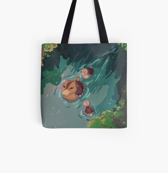 turtle duck pond avatar the last airbender All Over Print Tote Bag
