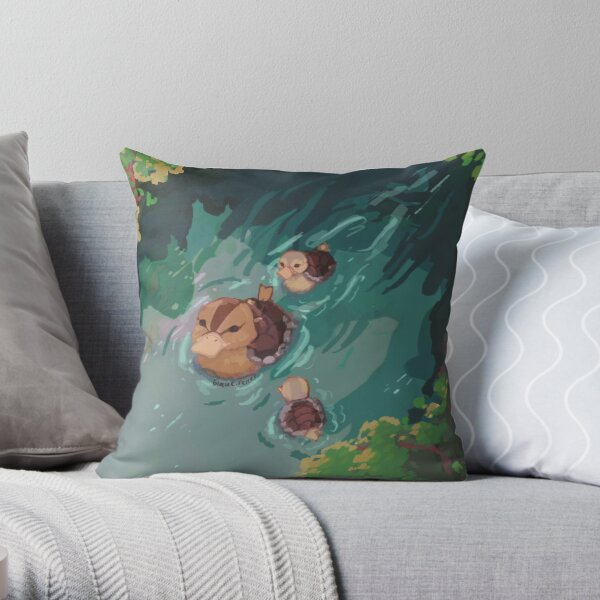 turtle duck pond avatar the last airbender Throw Pillow