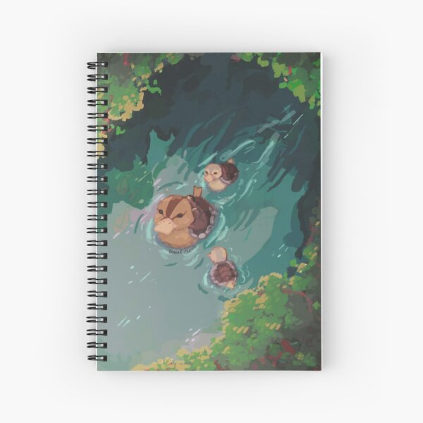 turtle duck pond avatar the last airbender Spiral Notebook