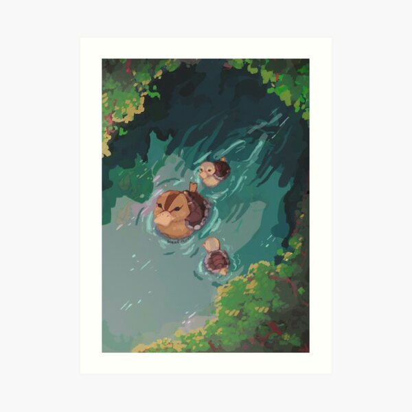 turtle duck pond avatar the last airbender Art Print